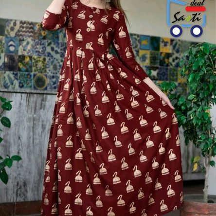 Rayon Brown Color Kurti