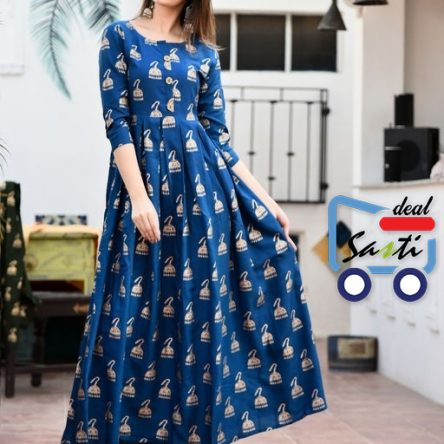 Rayon Blue Color Kurti