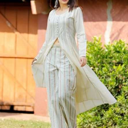 Designer  Rayon & Cotton Kurta Set