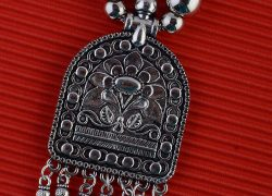 Antique Oxidised German Silver Necklace
